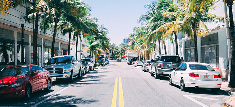Some city street in Florida