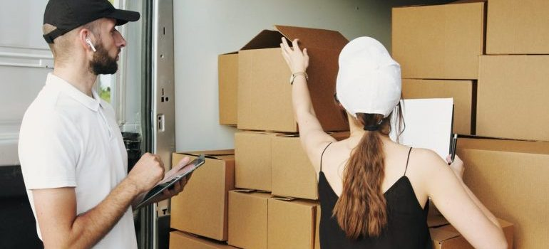 counting boxes before moving from florida to seattle