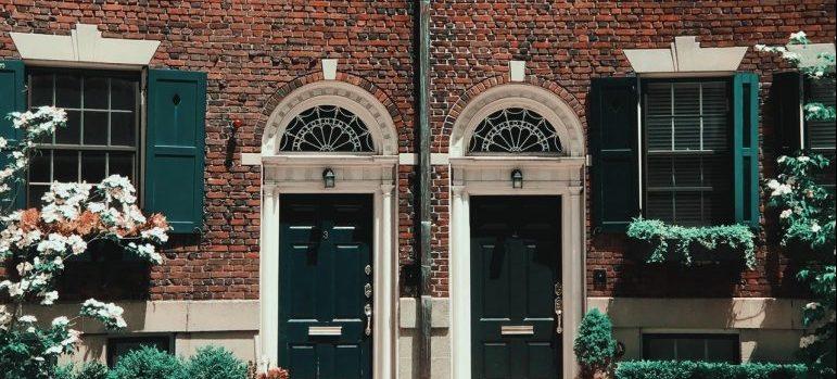 brown brick houses in Boston