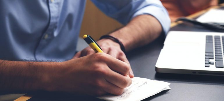 Creating a checklist.