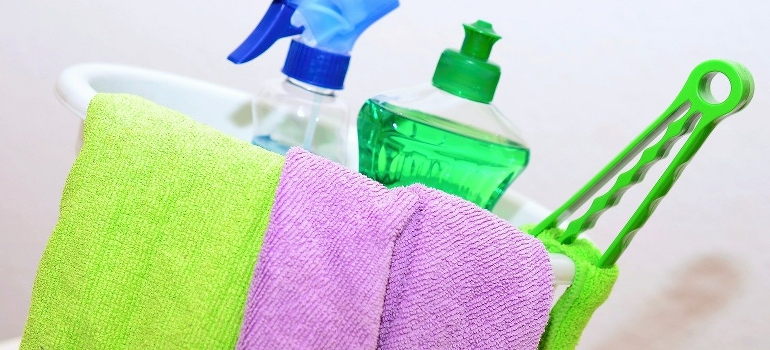 cleaning kit you will use to Stage your apartment for sale