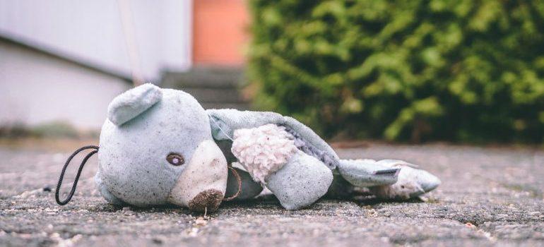 Damaged teddz bear.